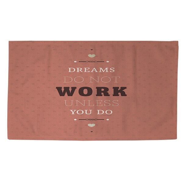 Dreams Take Work Area Rug by Manual Woodworkers & Weavers