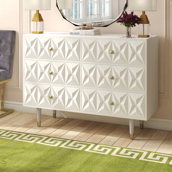 Morley 6 Drawer Double Dresser By Everly Quinn by Everly Quinn Bargain
