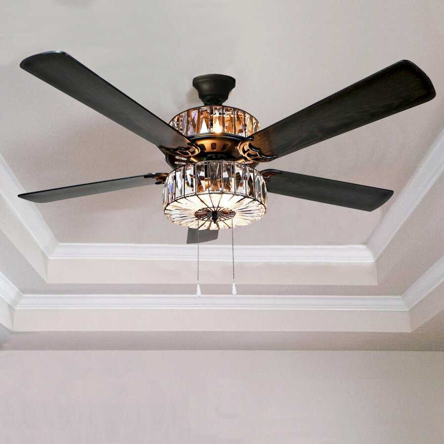 ceiling fan retractable blades wayfair