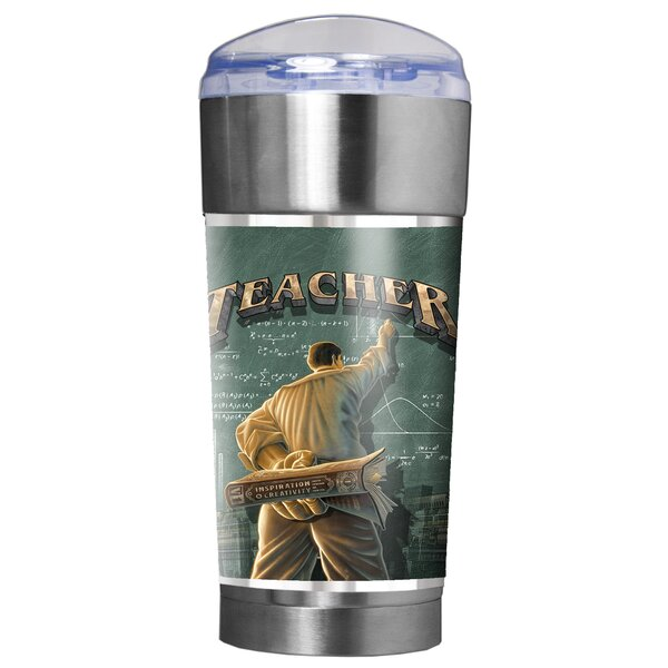 Teacher (Male) Backbone of America 24 oz. Stainless Steel Travel Tumbler by Great American Products