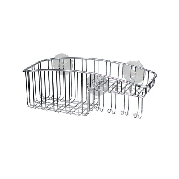 Contempo Stainless Steel Wall Mounted Shower Caddy by Spectrum Diversified