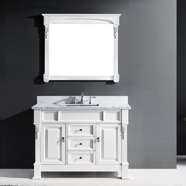 Oden 47 Single Bathroom Vanity Set with Mirror by Charlton Home