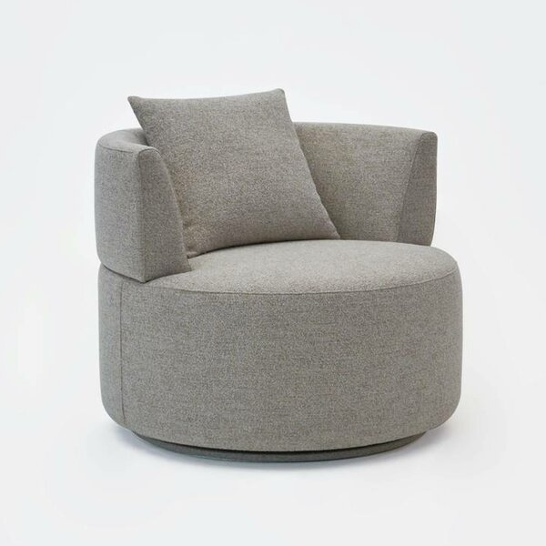 Sigisbert Swivel Barrel Chair by Latitude Run