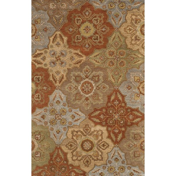 Cranmore Hand-Tufted Beige/Orange Area Rug by Charlton Home