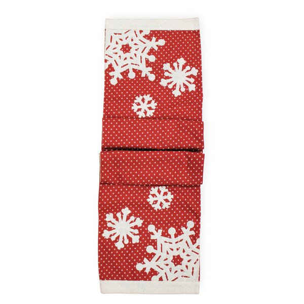 Polka Dots Snowflake Runner by The Holiday Aisle
