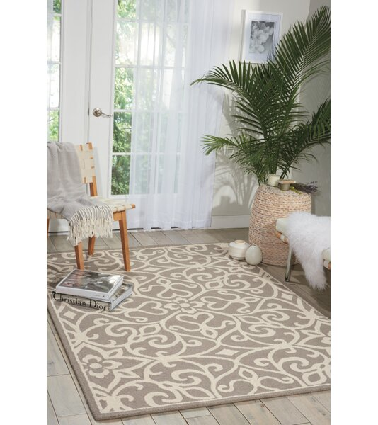 Hockenberry Hand-Woven Taupe/Ivory Area Rug by Darby Home Co