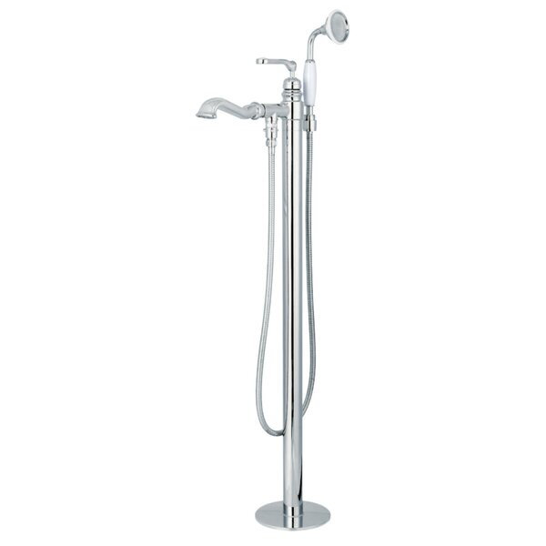 Royale Single Handle Freestanding Tub Filler with Hand Shower by Kingston Brass