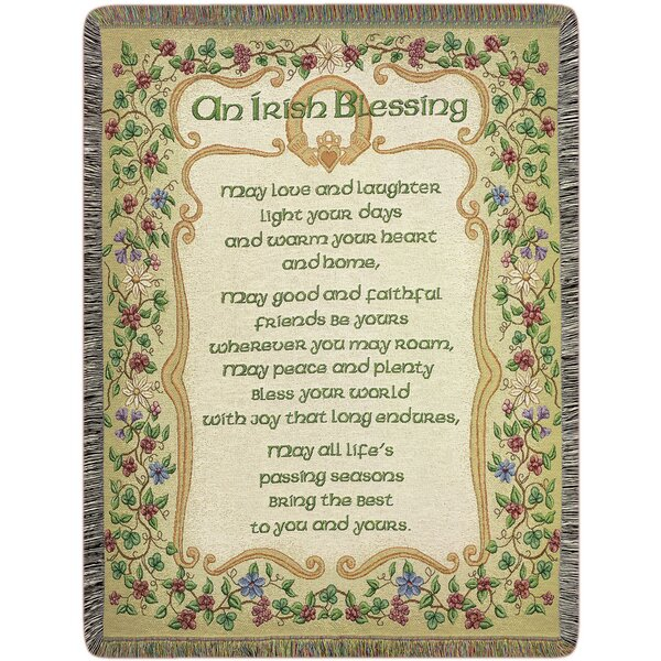 Peace and Plenty Tapestry Cotton Throw by Manual Woodworkers & Weavers