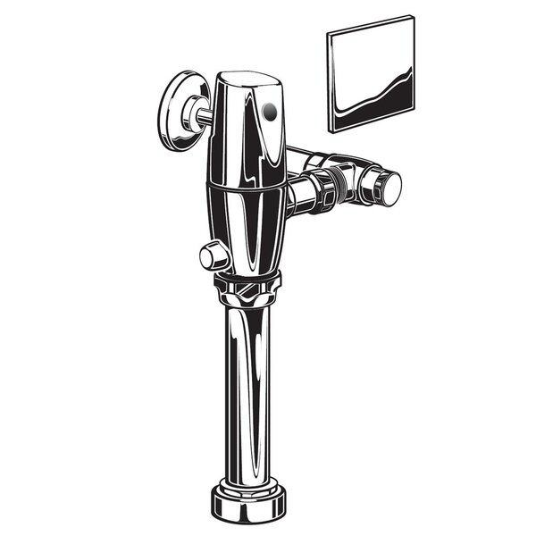 Exposed 1.28 GPF AC Toilet Flush Valve by American Standard