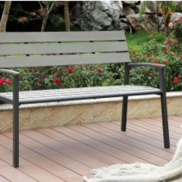 Abrego Aluminium Garden Bench by Highland Dunes