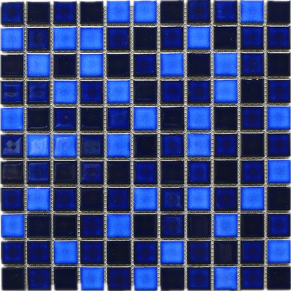 Tropical Night 1 x 1 Porcelain Tile in Blue by Multile