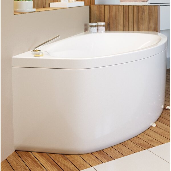 Anette Acrylic 63 x 38 Corner Soaking Bathtub by Aquatica