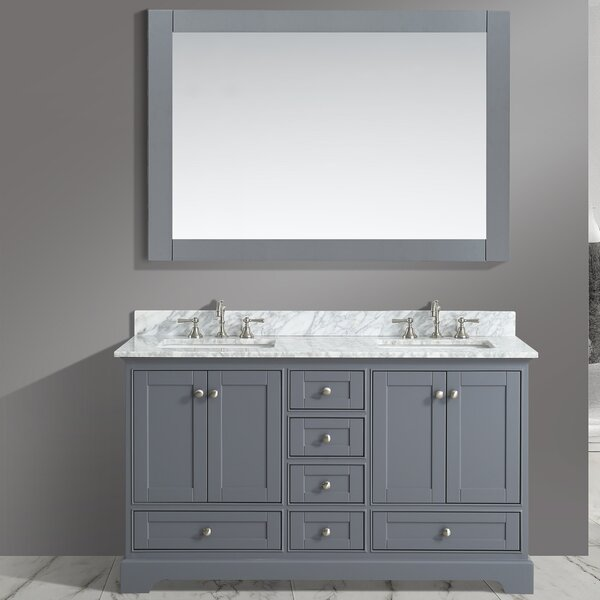 Castellanos 60 Double Bathroom Vanity Set with Mirror by Charlton Home