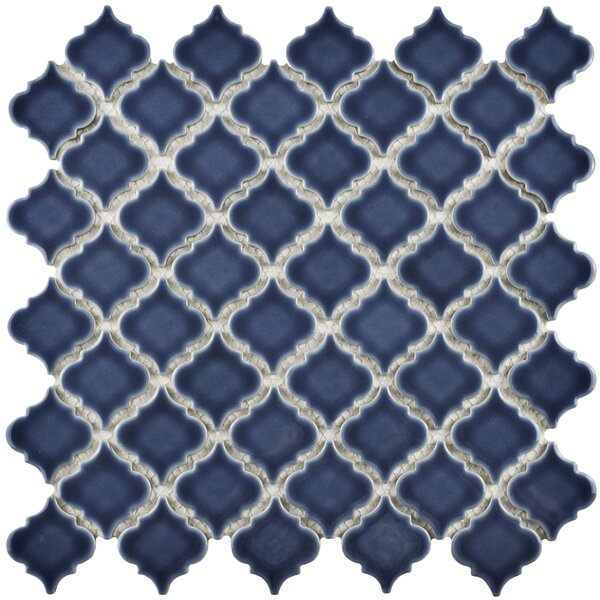 Pharsalia 12.38 x 12.5 Porcelain Mosaic Floor and Wall Tile in Denim Blue by EliteTile