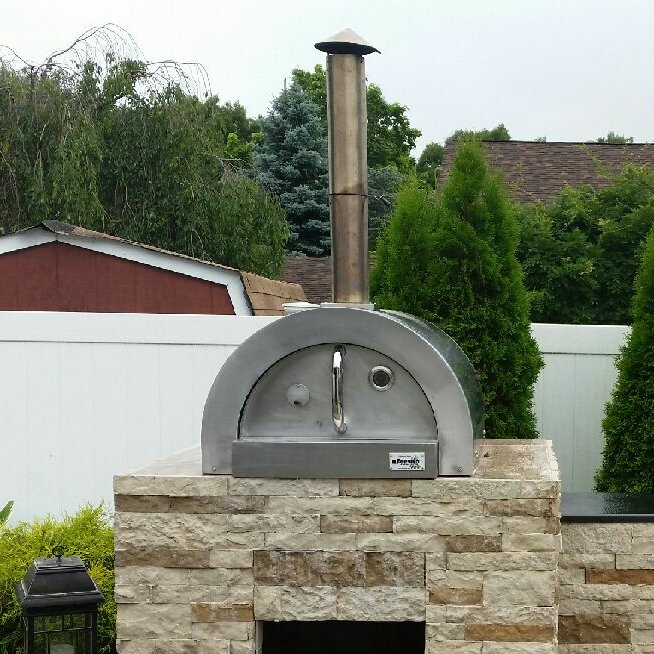 f series mini basic stainless steel wood fired pizza oven - Wood Fired Oven