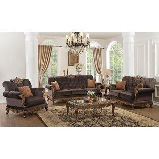 Mariano 3 Piece Living Room Set by Fleur De Lis Living