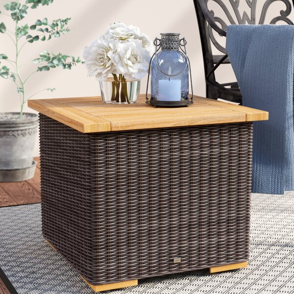 New Boston Solid Wood Side Table by La-Z-Boy Outdoor