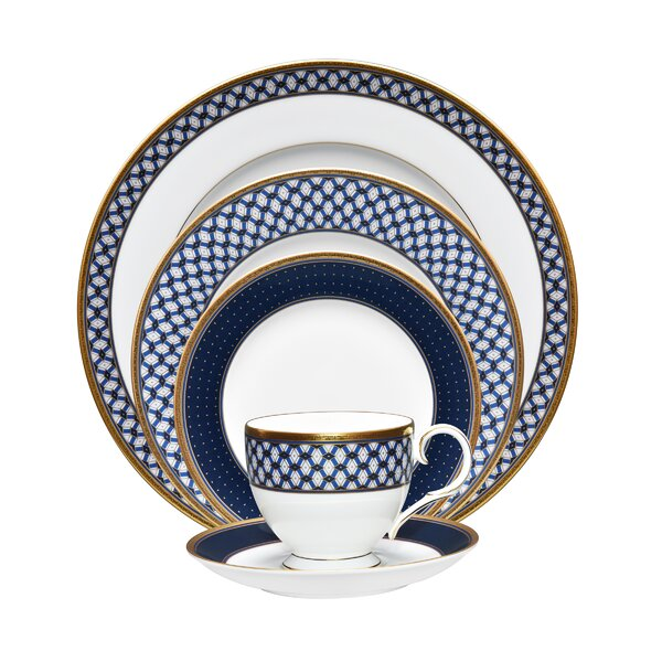Blueshire 5 Piece Place Setting, Service for 1 (Set of 5) by Noritake
