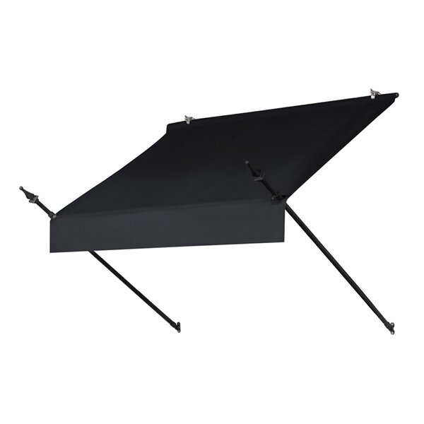 Awning in a Box™ Designer 4 ft. W x 3 ft. D Retractable Window  Awning by IDM Worldwide