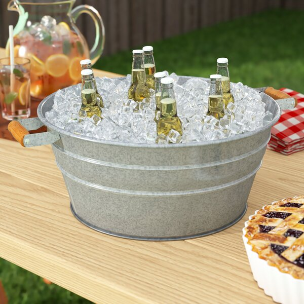 Makayla Galvanized Beverage Tub by Gracie Oaks
