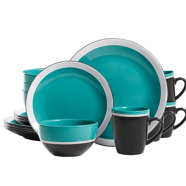 Eclipse 16 Piece Dinnerware Set, Service for 4 by Studio California