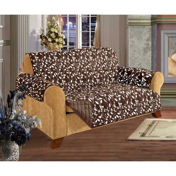 Leaf Furniture Protector Box Cushion Loveseat Slipcover by ELEGANT COMFORT