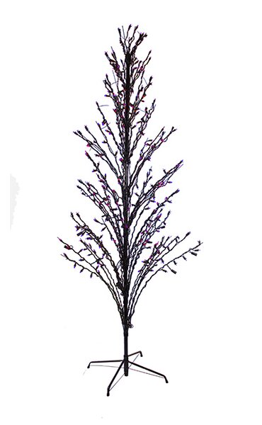 Lighted Halloween Cascade Twig Tree Outdoor Yard Art Decoration by LB International