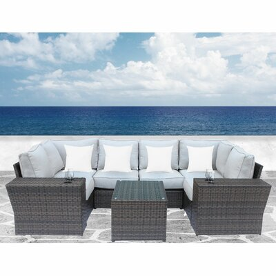 Rosecliff Heights Sectional Set Cushions Frame Color Seating Groups