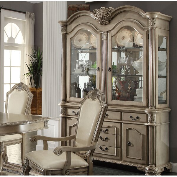 Eilers Lighted China Cabinet By Astoria Grand Cool