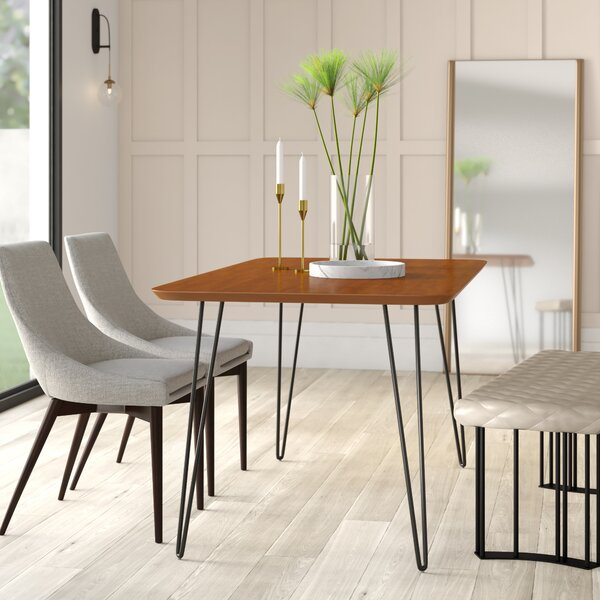 Lacluta Solid Wood Dining Table by Mercury Row