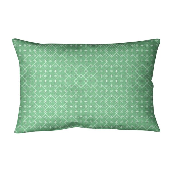 Kitterman Doily Indoor/Outdoor Geometric Lumbar Pillow