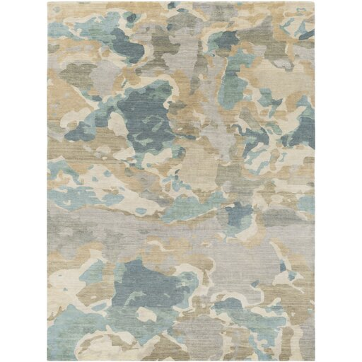 Adkins Handmade Butter/Forest Area Rug by Latitude Run