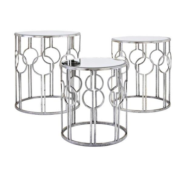 Roush Mirror 3 Piece Nesting Tables [Mercer41]
