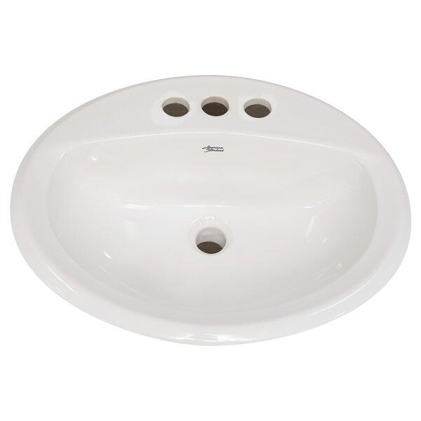 Antiquity Ceramic Circular Drop-In Bathroom Sink with Overflow by American Standard