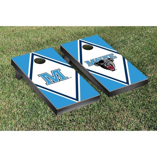 NCAA Diamond Wooden Alternating Cornhole Game Set by Victory Tailgate