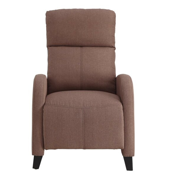 Archie Upholstered Plush Push Back Manual Recliner [Red Barrel Studio]