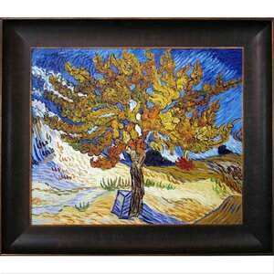 The Mulberry Tree by Vincent Van Gogh Framed Painting by Tori Home