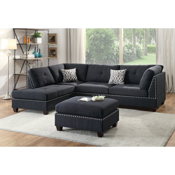 Tammy Reversible Sectional With Ottoman By A&J Homes Studio