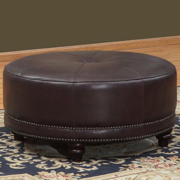 Cindy Leather Pouf by Lazzaro Leather