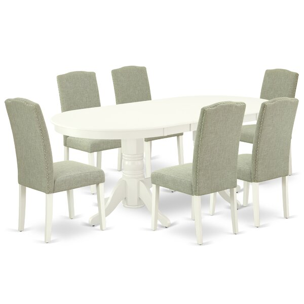 Wilridge 7 Piece Extendable Solid Wood Dining Set By Winston Porter