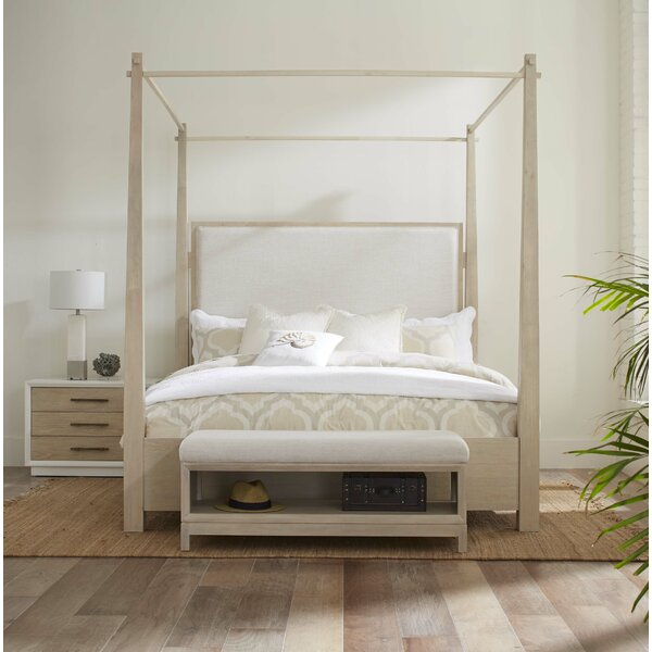 Boca Grande King Upholstered Canopy Bed by Panama Jack Home