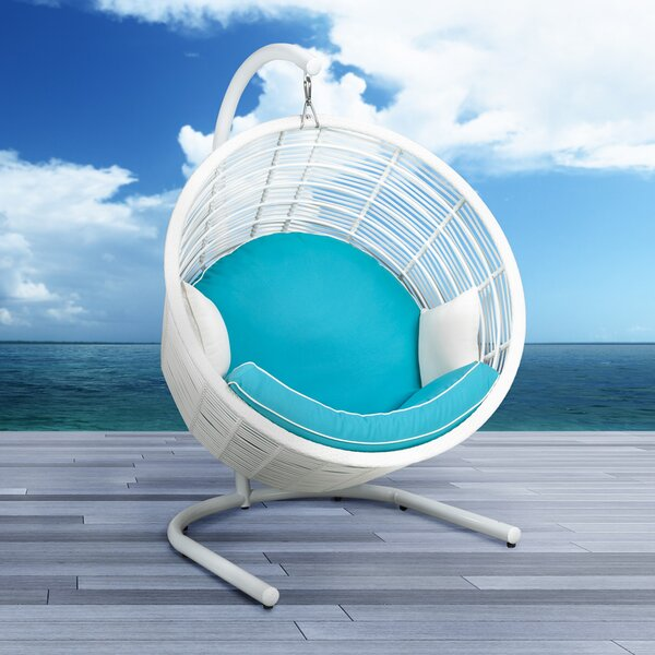 Harley Wicker Swing Chair with Stand by Uptown Club