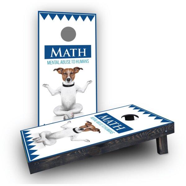 MATH Dog Cornhole Boards (Set of 2) by Custom Cornhole Boards