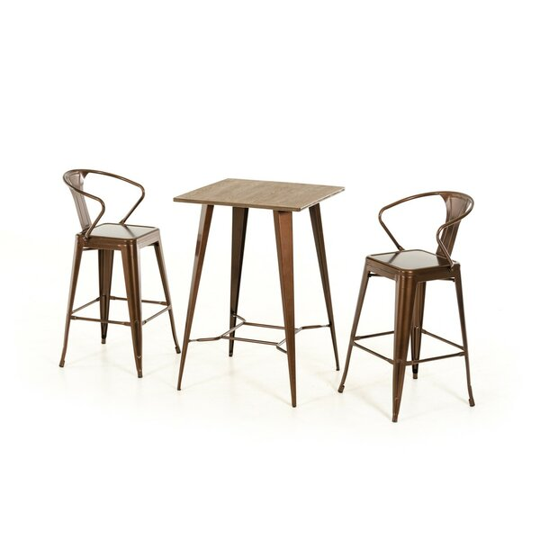 Ashleigh 3 Piece Pub Table Set by 17 Stories