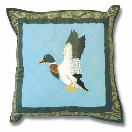 Mallard Cotton Throw Pillow by Patch Magic