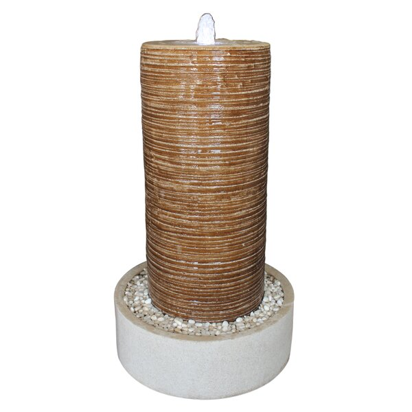 Column and Round Base Pebbles Fountain by Screen Gems