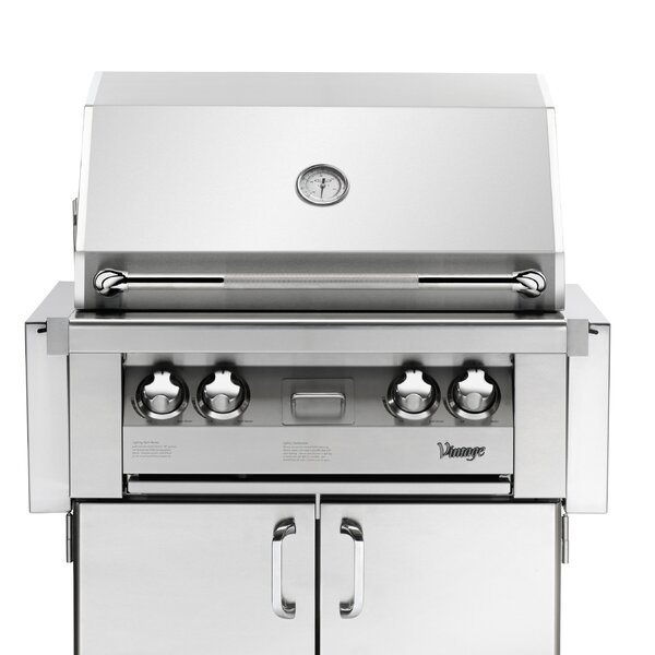 Vintage 3-Burner Built-In Convertible Gas Grill with Smoker by Vintage Appliances