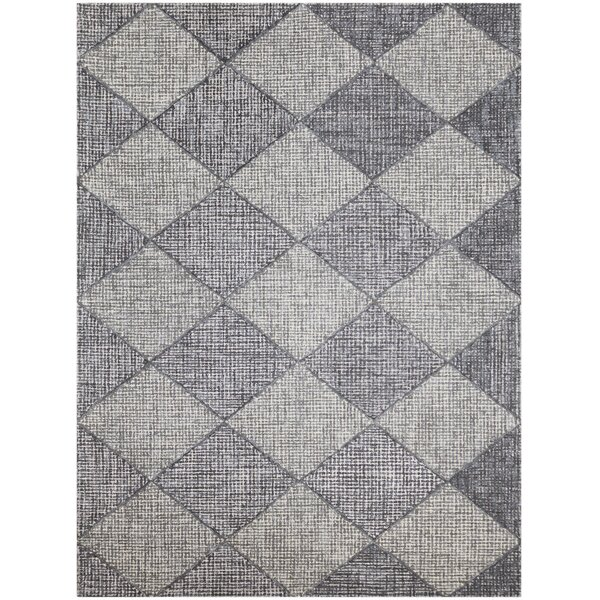 Cargan Neutral Hand-Tufted Gray Area Rug by Gracie Oaks