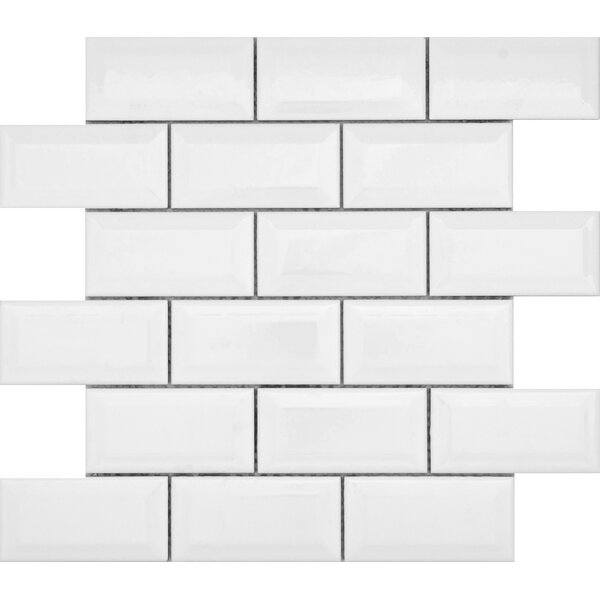 Vogue 2 x 4 Ceramic Mosaic Tile in White by Emser Tile