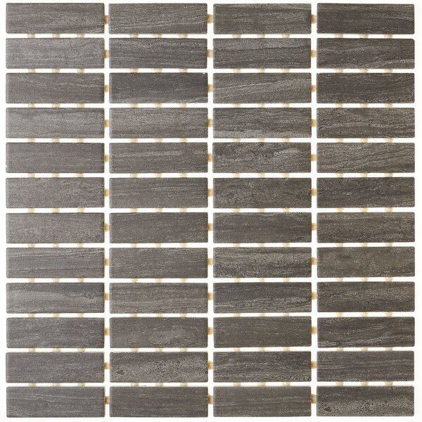 1 x 3 Ceramic Mosaic Tile in Headline Gray by Itona Tile